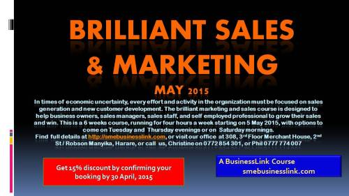 Brilliant Marketing and Sales Worshop 2015