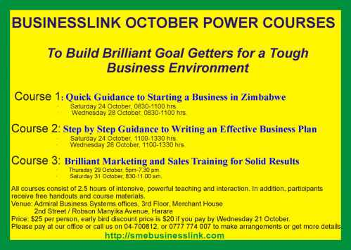 FLYER BUSINESSLINK POWER COURSES OCT 2015