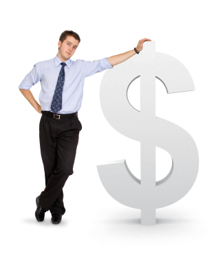 business man with a dollar symbol