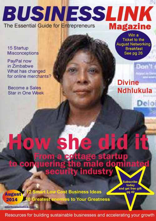 BUSINESSLINK MAGAZINE AUGUST 2014 Cover
