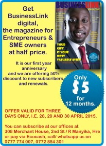 BUSINESSLINK SUBSCRIPTION OFFER APRIL 2015.