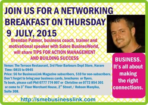 BREAKFAST MEETING 9 JULY